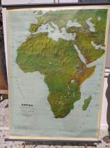 Γεωφυσικος χαρτης διπλης οψης Αφρικη