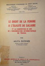 La droit de la femme a l'égalité de salaire/ Melitta Budiner