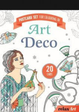 Postcard set for colouring in: Art deco