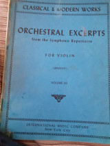 Orchestral excerpts for violin volume iii