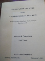 The location of the entrepreneurial function