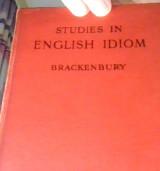 Studies in english idiom